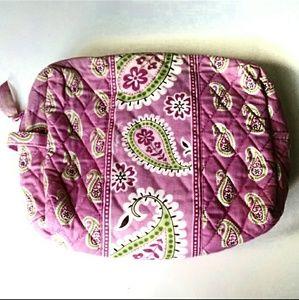 Vera Bradley Pink Green Paisley Toiletry Bag